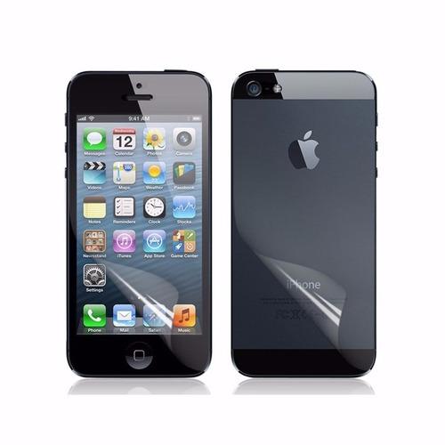 mica delantera y trasera iphone 5s resistente protege el cel