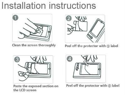 mica film mate antihuella pantalla protector nokia lumia 720