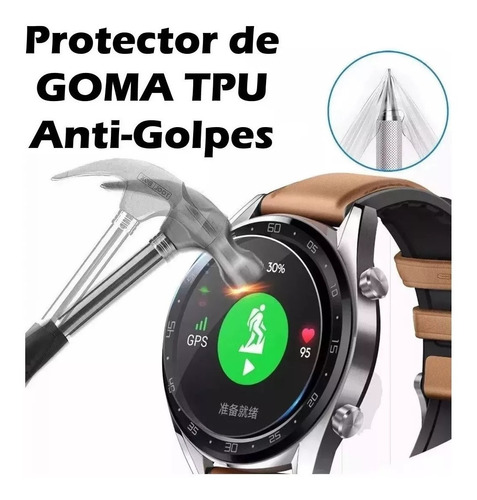 mica lamina pack 3 protector reloj huawei watch gt1  46/42mm