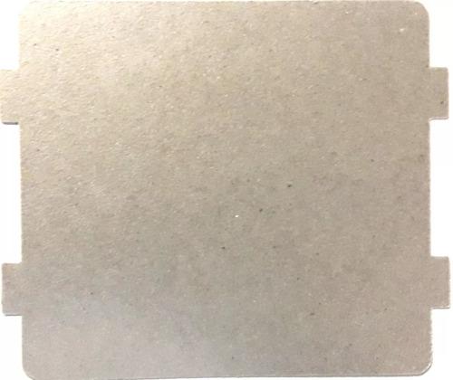 mica  para microondas  de 10.8 x 10 cm con orejas 4mm hamc