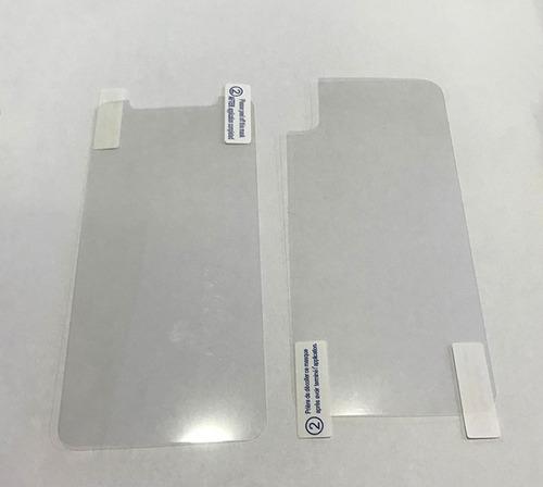mica plastica gel mate iphone x xs xr ambos lados no vidrio