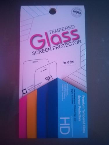 mica protectora vidrio templado glass samsung galaxy a3 2017