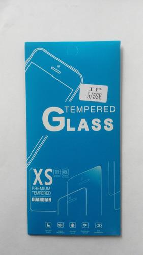 mica protectora vidrio templado iphone 5/ 5 se
