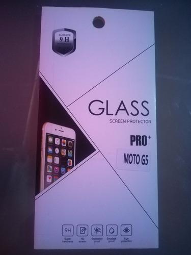 mica protectora vidrio templado smartphone motorola moto g5