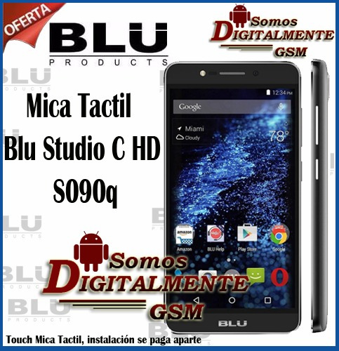 mica tactil blu studio c hd s090q somos tienda