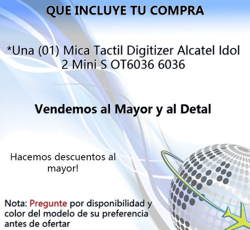 mica tactil digitizer alcatel idol 2 mini s ot6036 6036