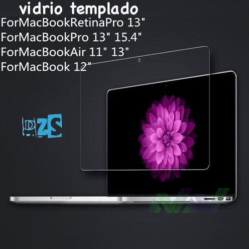 mica vidrio templado 9h nueva macbook pro 13 15 transparente