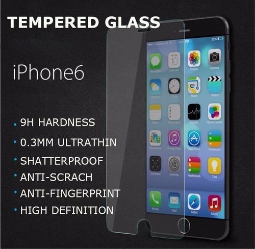 mica vidrio templado iphone 6, iphone 7