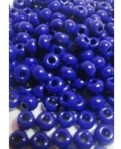 miçanga 6/0 (4mm)  de vidro azul royal pct 100gm para guias