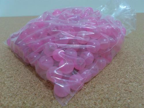 miçanga pequena rosa clara - pacote 450 gr