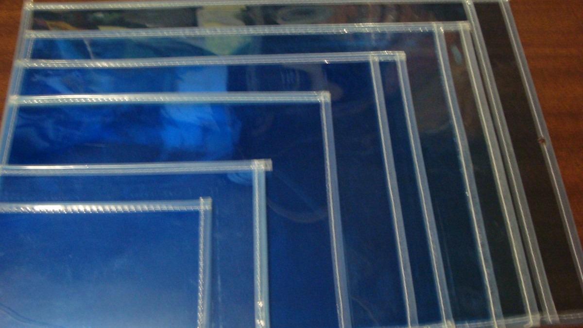 Micas Porta Documentos Azul Boleta Papeleria Ciento