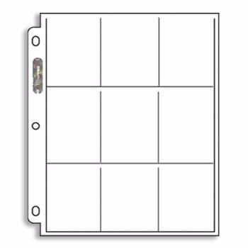 micas ultra - pro para cartas yugioh, pokemon, de 9 espacios