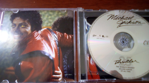 michael jackson cd dvd 25th anniversary thriller coleccion