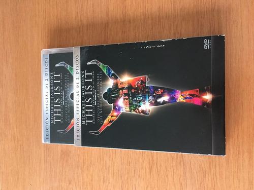 michael jackson dvd doble  this is it  edición especial