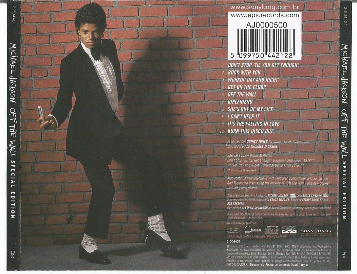 michael jackson off the wall cd ouvir r 25 00 em mercado livre