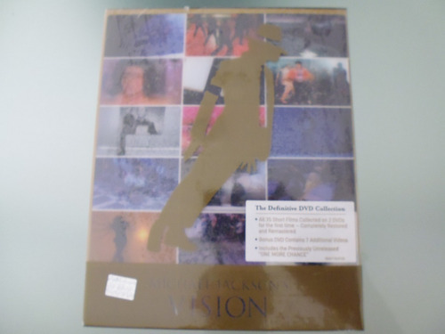 michael jackson / vision / box set / 3 dvd 1 libro / import