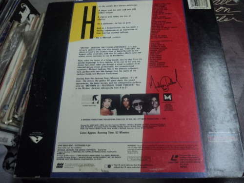 michael jackson´s  video laserdisc de  12 the legend continu