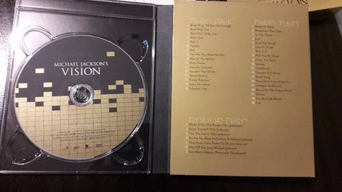 michael jackson´s - vision 3 dvd´s,  edición usa