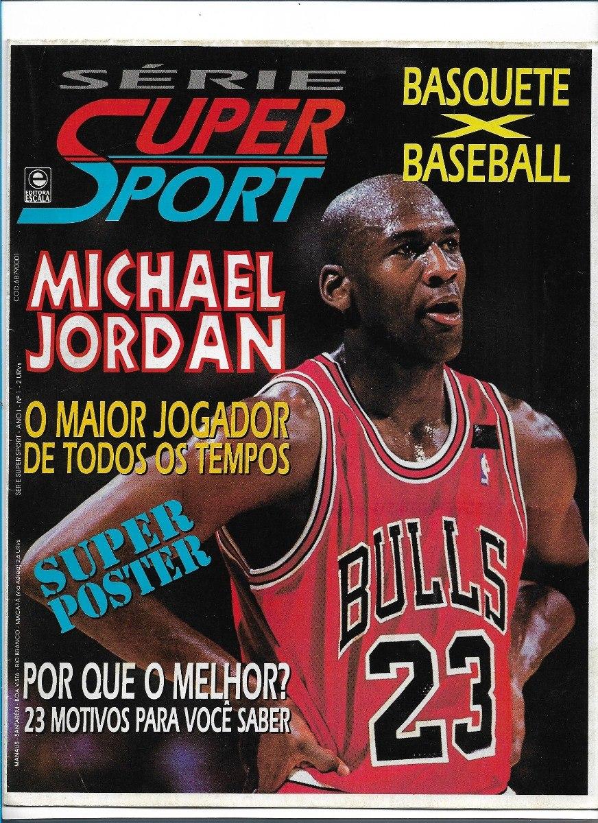 revendeur 0ff7d 6b8d6 Michael Jordan Super Sport 1 Revista Poster Nba Basquete