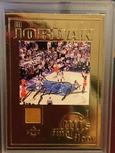 michael jordan tarjeta upper deck 2000 22k gold