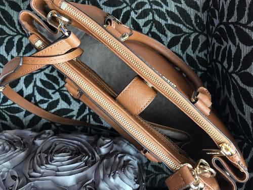 michael kors bolso sutton saffiano color camello original