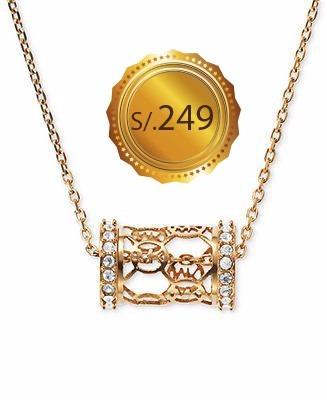 michael kors - collar mk monogram gold o gold rose