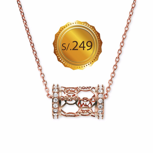 michael kors - collar mk monogram gold rose