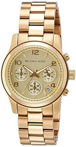 michael kors midsized chronograph gold tone reloj para mujer