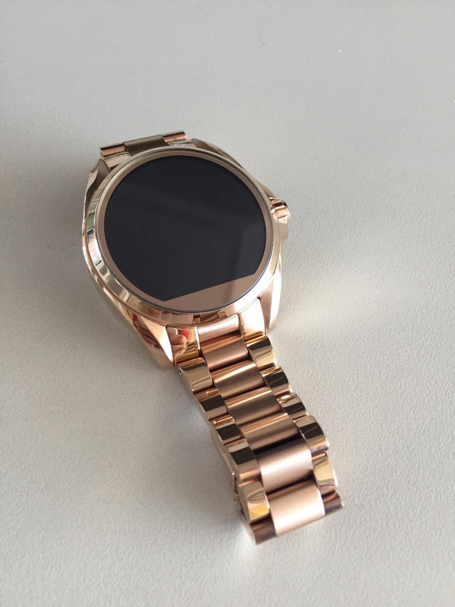 3cf118ae16304 New Michael Kors Goldtone Touchscreen Smartwatch MKT5004 Overview. Carregando  zoom.