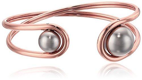 michael kors moderno clásico rosa de oro-tono y gris perla f