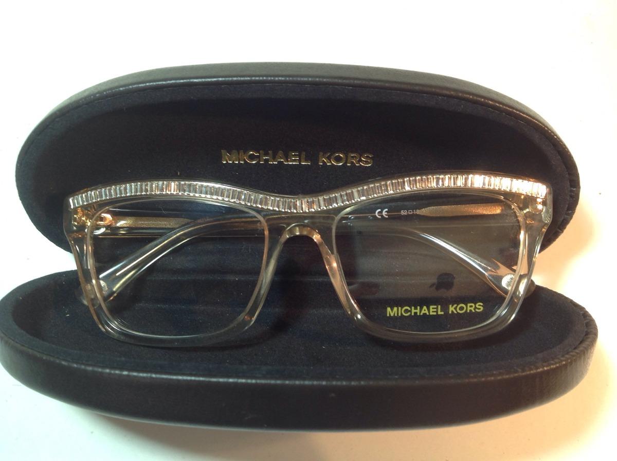 d959b12e21605 Michael Kors Óculos De Grau Dourado Com Cristais Armação - R  330