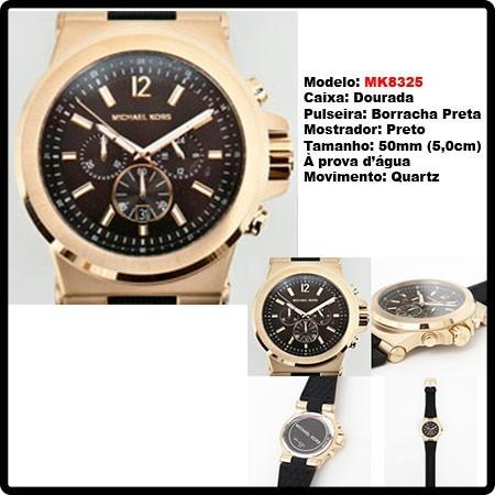 84d823d0568b Relógio Michael Kors - Mk8325 - Original - Em 12x Sem Juros - R ...