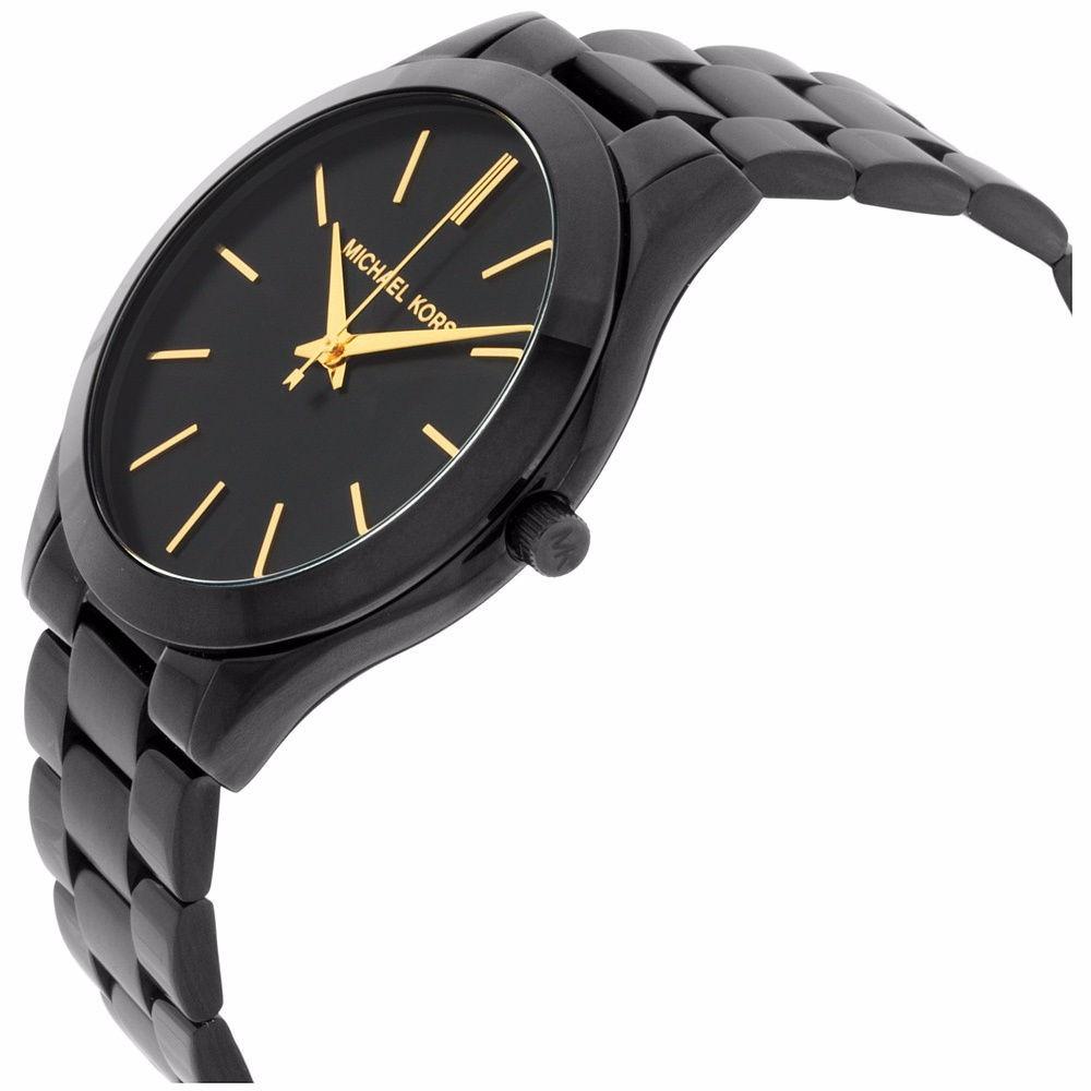 Relógio Michael Kors Mk3221 Slim Autêntico Preto Com Caixa - R  330 ... 860f7c612e