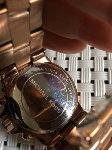 michael kors relógio. Carregando zoom... relógio michael kors baguette  bezel rose mk5412 usado 5f04b6b527