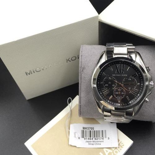 67155ad435e29 relógio michael kors mk5705 bradshaw prata preto original · relógio michael  kors · michael kors relógio