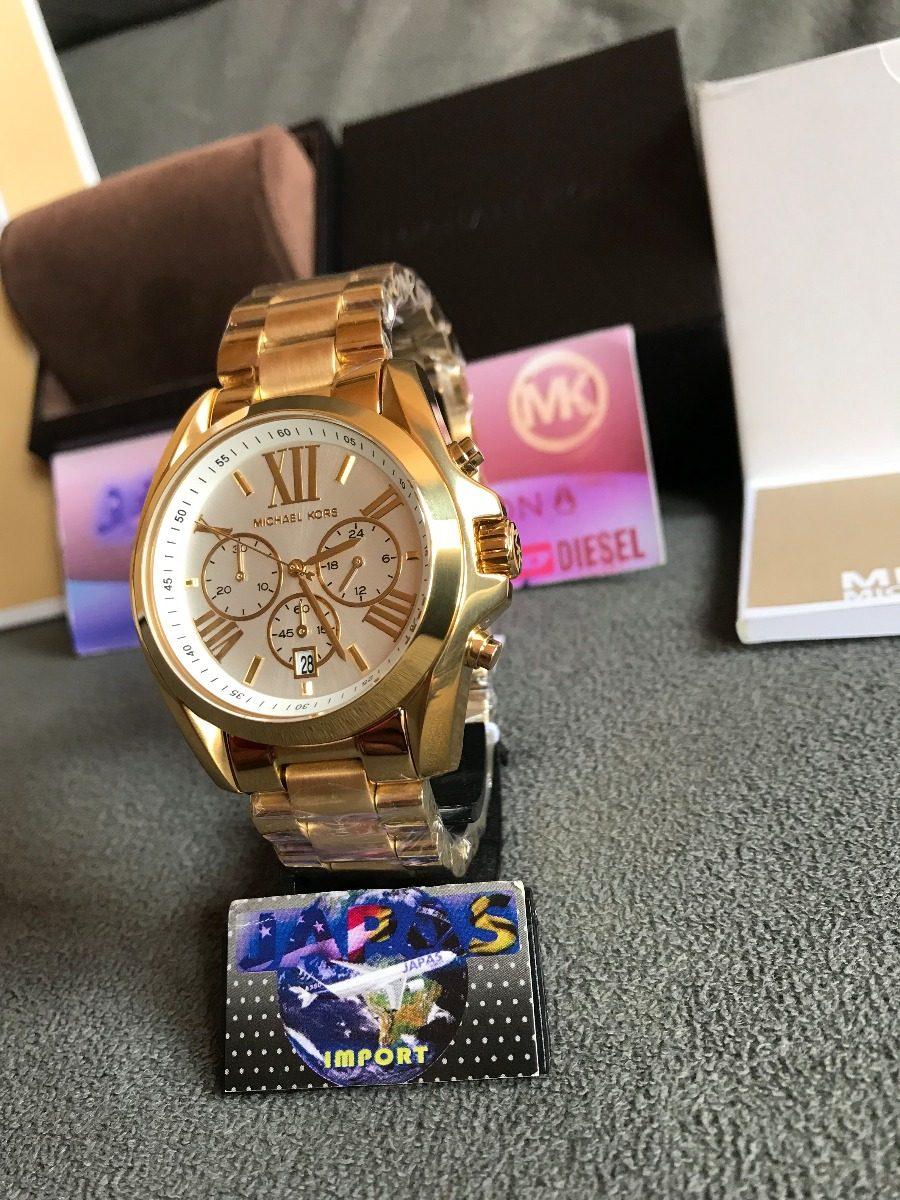 cf5ced903b5 Relogio Michael Kors Mk6266 Gold Original Completo Com Caixa - R ...