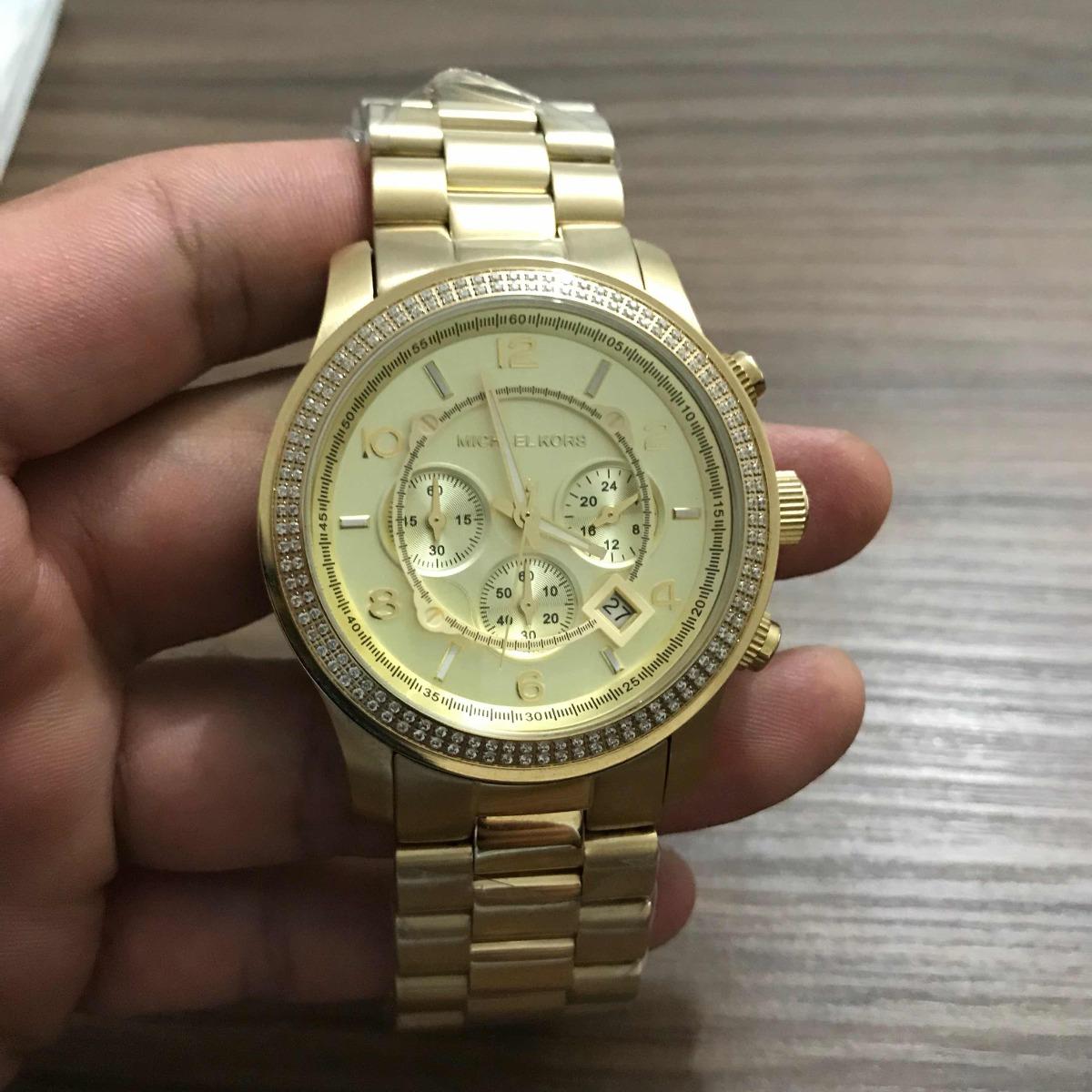 Relógio Michael Kors Mk-5575 Dourado. - R  699,00 em Mercado Livre bedb08fa93