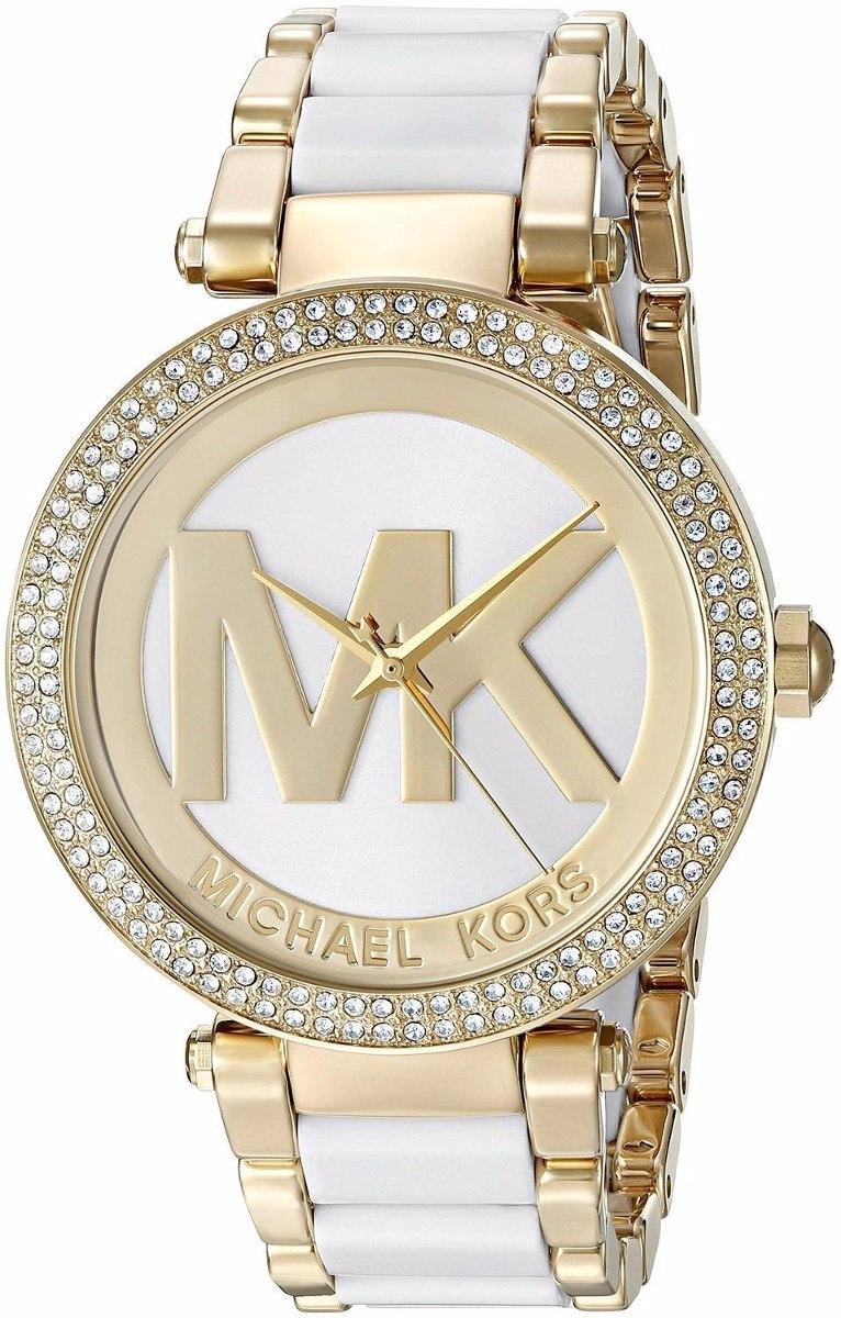 fa34584564e9 michael kors reloj mujer blanco con dorado mk6313 parker. Cargando zoom.