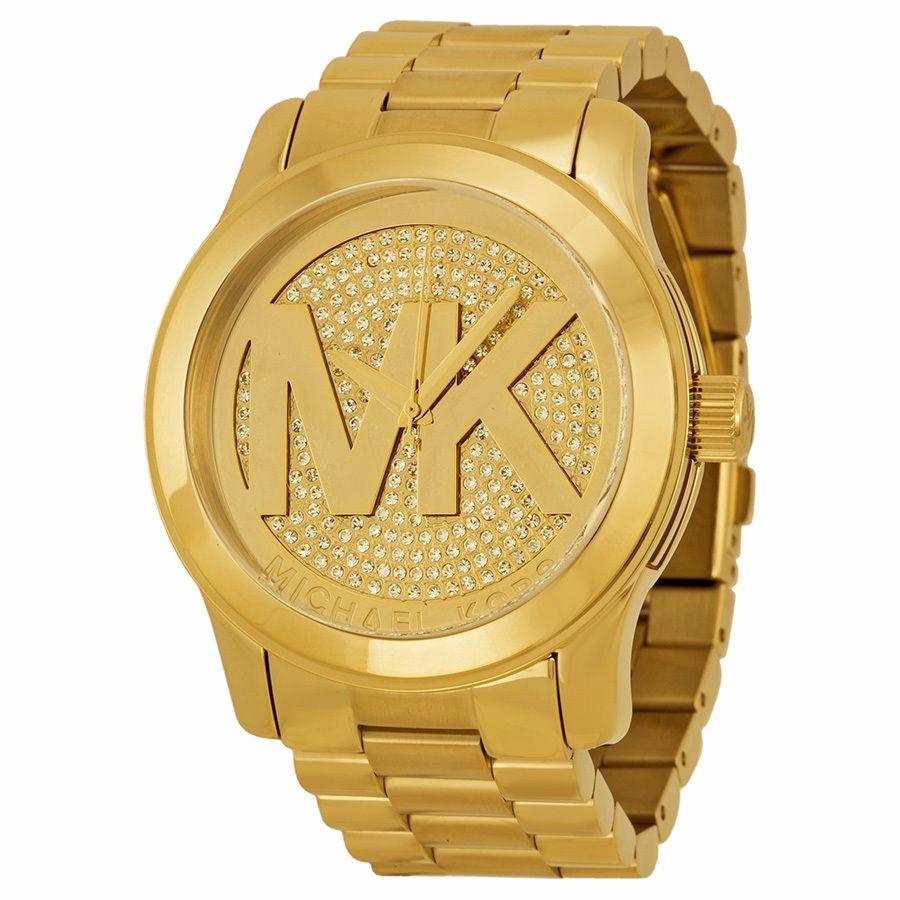 acef01ccbcbc michael kors reloj mujer dorado mk5706 runway logo grande. Cargando zoom.