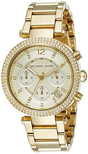 ac2e7300d2b4 Michael Kors Womens Parker Gold-tone Watch Mk5354 -   4