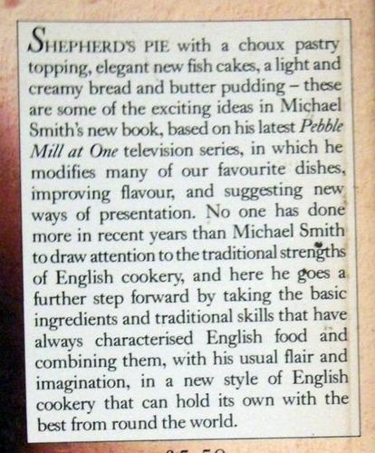 michael smith's new english cookery ingles cocina no envio
