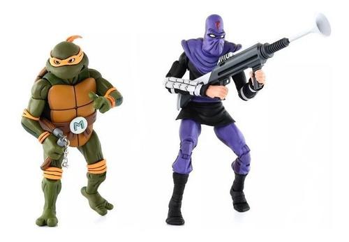 michelangelo vs foot soldier - teenage ninja turtles - neca