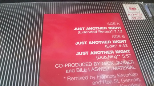 mick jagger just another night (extended remix) vinilo maxi