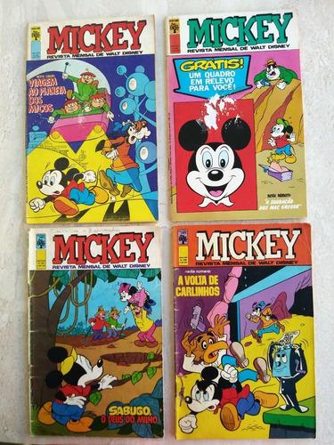 mickey 1975 abril 4 hq`s gibi antigo e raros frete grátis