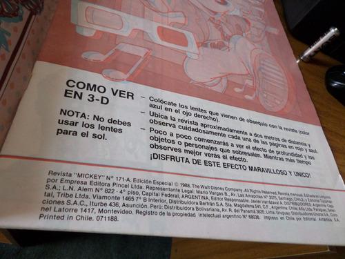 mickey 3-d edición especial 60 años / n°171-a / año 1988