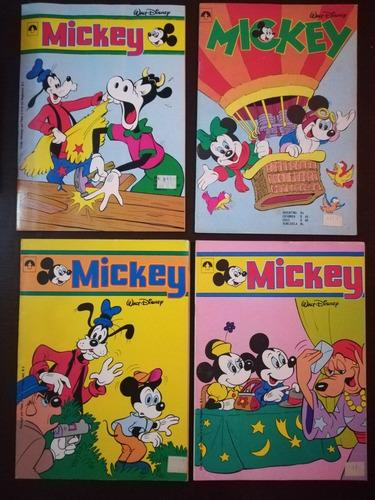 mickey , 4 revistas disney. editora pincel.