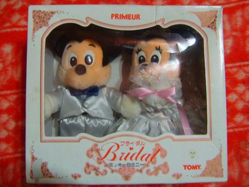 mickey and minnie bridal primeur walt disney tomy