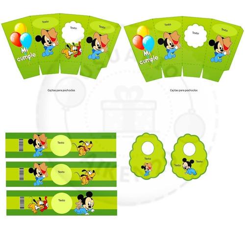 mickey bebe kit imprimible + tarjetas + promo 2 x 1