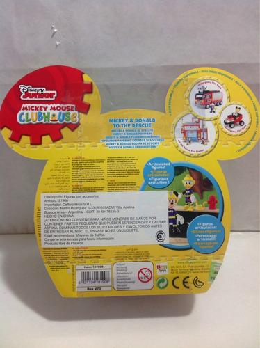 mickey donald rescate disney bombero sobre ruedas juguetes