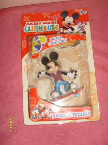 mickey  en patineta - club house mickey mouse- valmada shop
